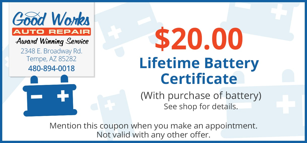 Lifetime Battery Warranty